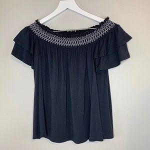 American Eagle Gray Soft & Sexy Short Sleeve Top M